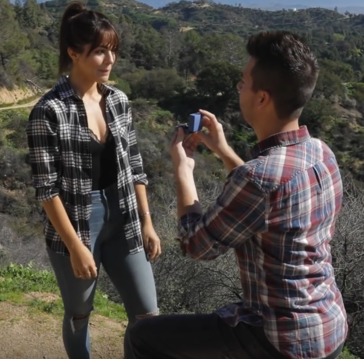 Millennial wedding proposal